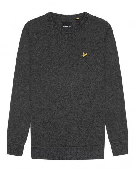LYLE AND SCOTT CREW NECK SWEATSHIRT CHARCOAL MARL