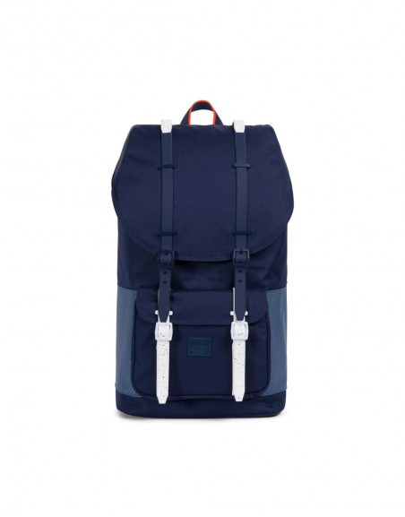 Herschel Little America Backpack Peacoat Navy Vermillon Aspect
