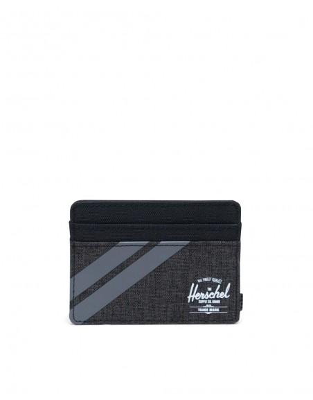 Herschel Porte-cartes gris noir Charlie