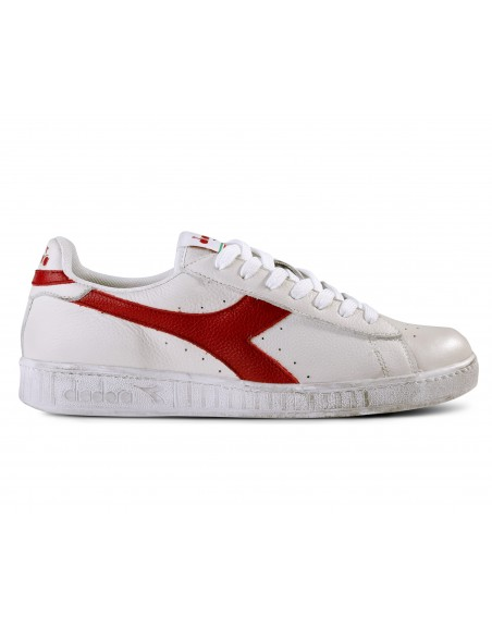 DIADORA GAME LOW WAXED WHITE/RED PEPPER